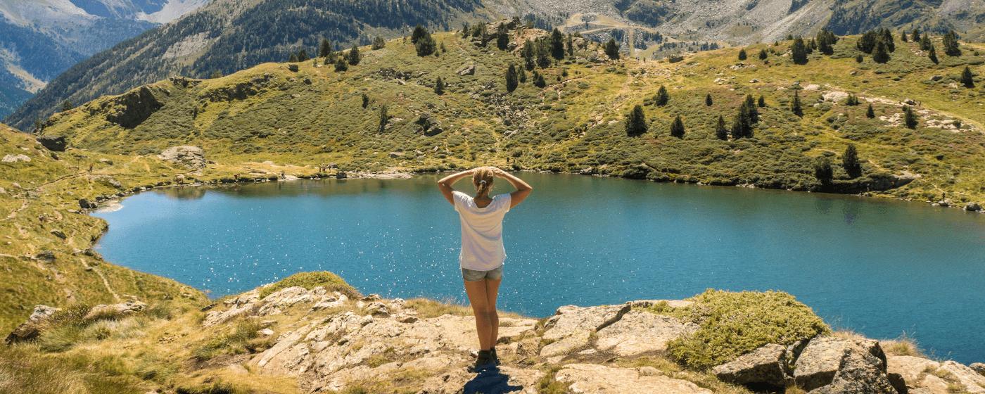 Andorra mountains river