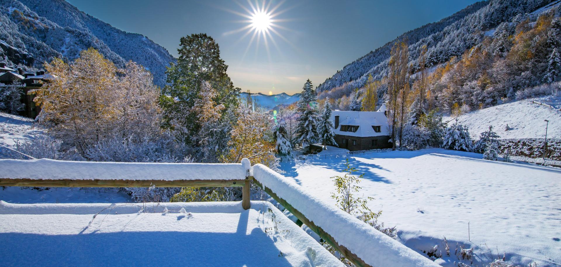Andorra snowy mountains