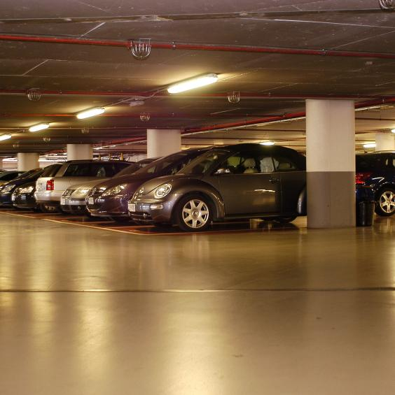 Underground parking in a hotel in Andorra